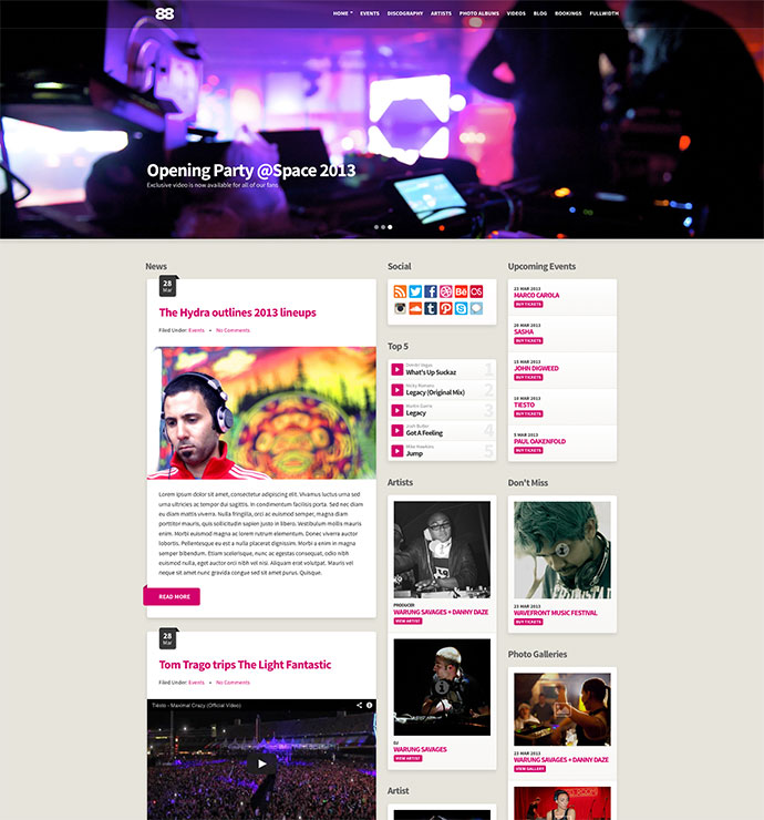 29 Best HTML Website Templates For Bands & Musicians | Web & Graphic ...