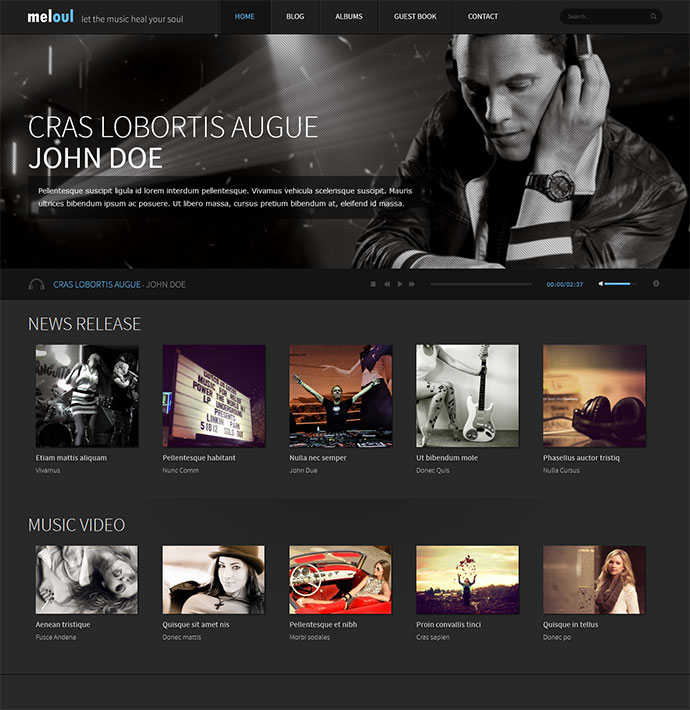 29 best html website templates for bands musicians web graphic meloul maxwellsz