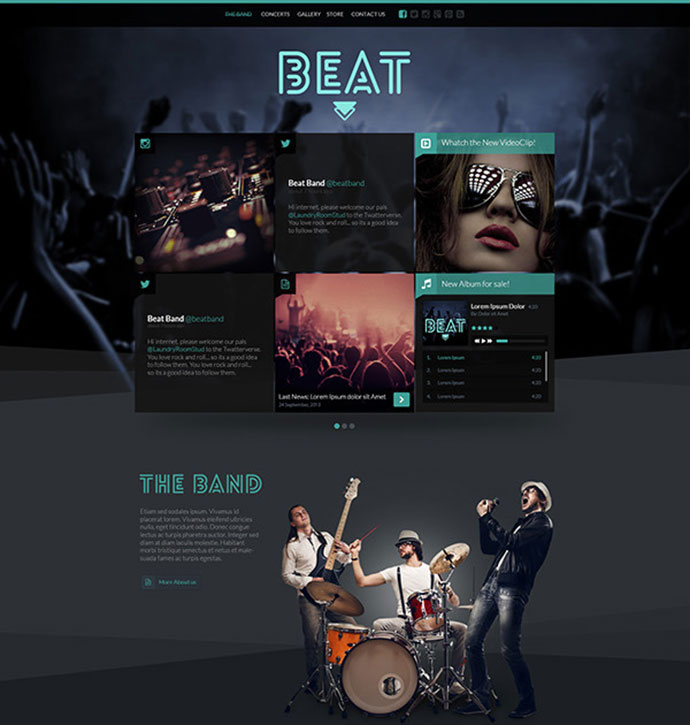 29 best html website templates for bands musicians web graphic