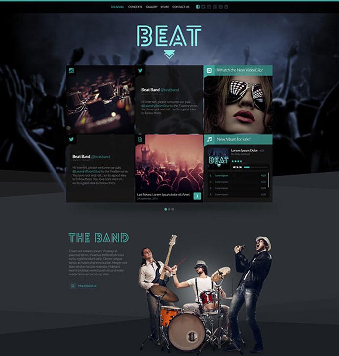 29 Best HTML Website Templates For Bands & Musicians | Web ...