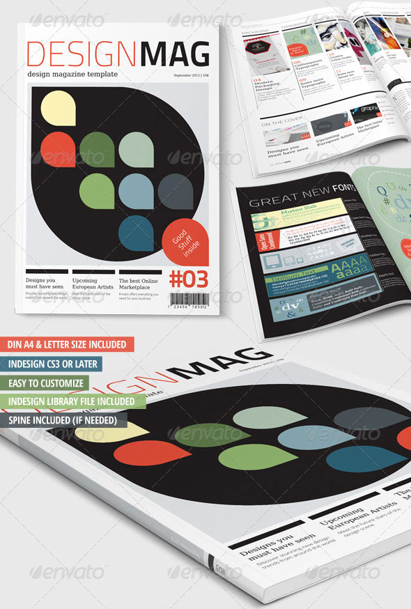 Design Magazine Template – A4   Letter – 28 Pages