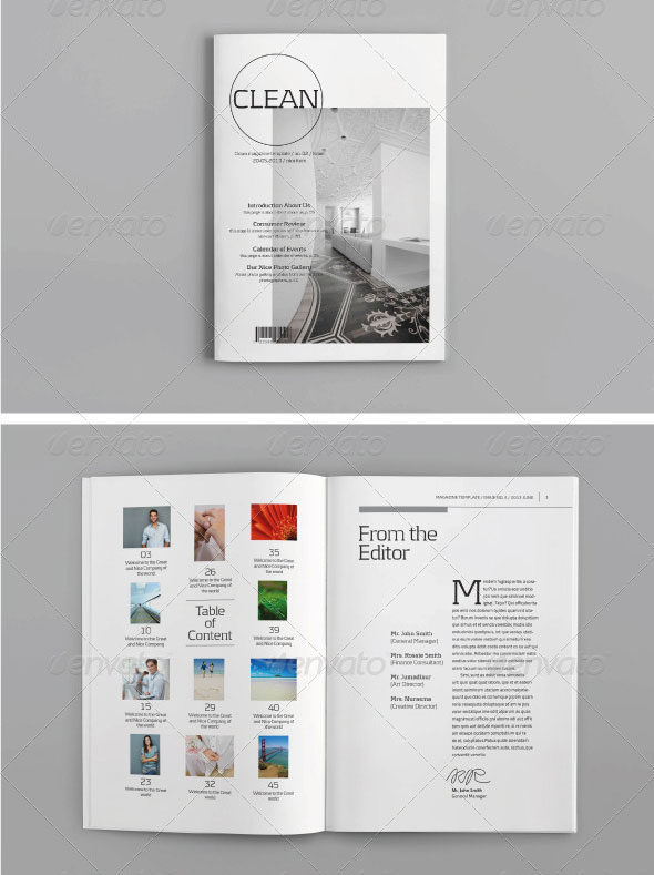 34 High Quality Psd Indesign Magazine Templates Web Graphic