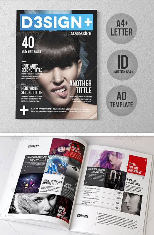 D3sign  Mgz Template – A4   Letter