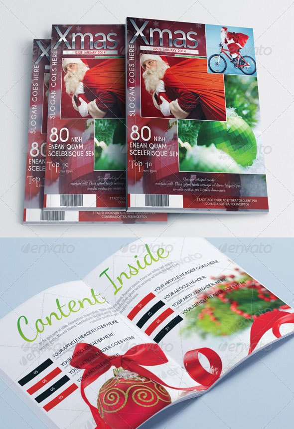 Magazine Template – Christmas Edition