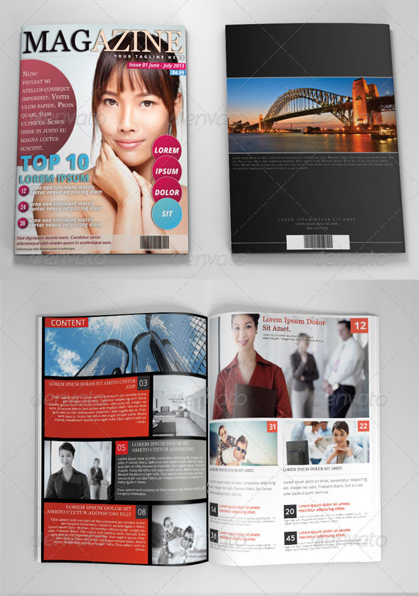Photoshop Magazine Template Vol.2
