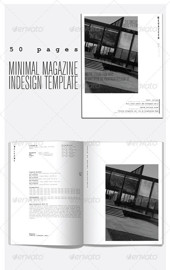 50 Pages Minimal Magazine