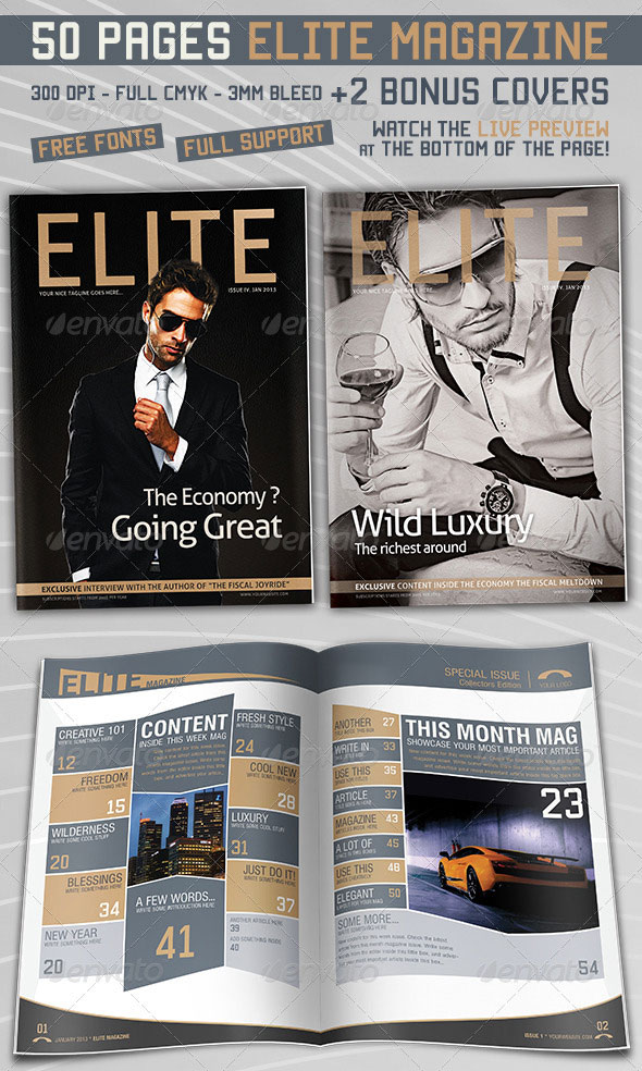 Elite Magazine 50 Pages
