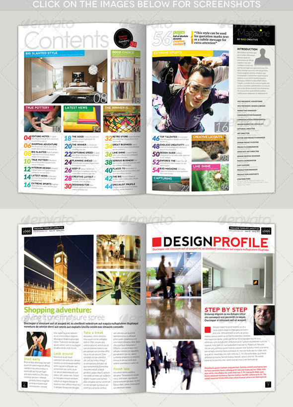 Magazine Template – InDesign 56 Page Layout V1