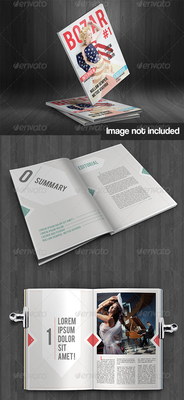 Bozar – Magazine Template Indesign