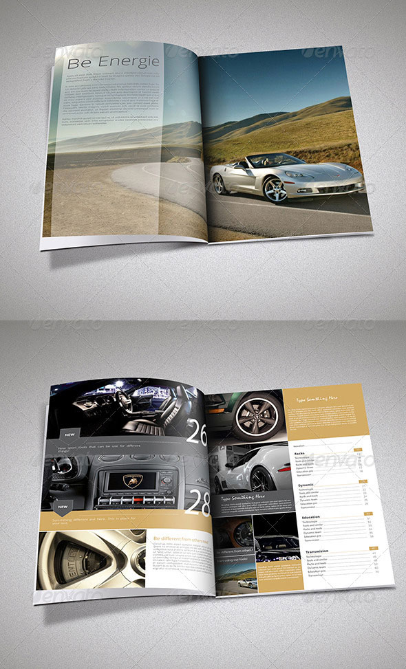 Cars Magazine Template