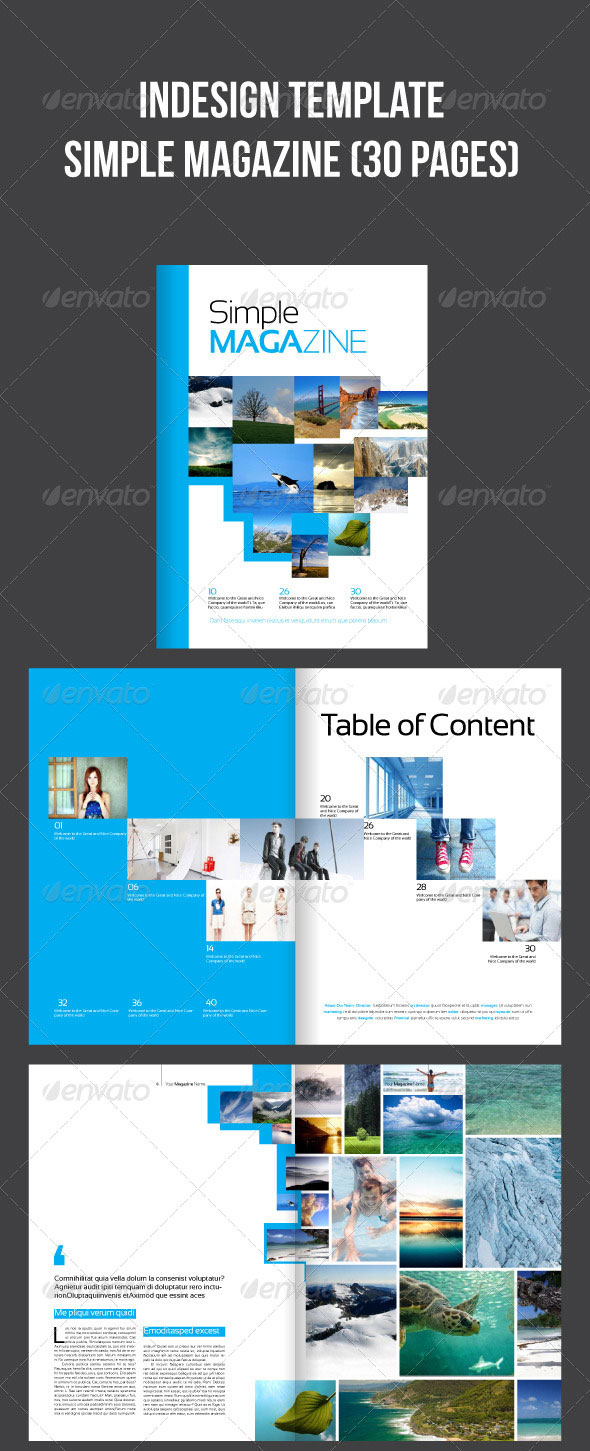 Indesign Magazine Template (30 pages)