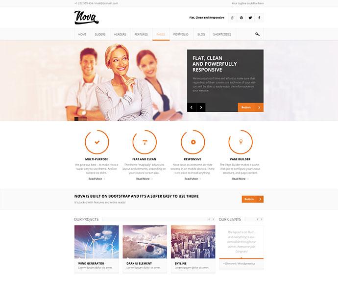 65 Clean & Modern Responsive Business WordPress Themes65 Clean & Modern Responsive Business WordPress Themes - Web & Graphic Design - Bashooka - 웹