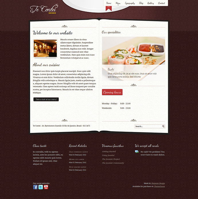 Best HTML Website Templates For Cafe Bar Restaurant Web - Html restaurant menu template