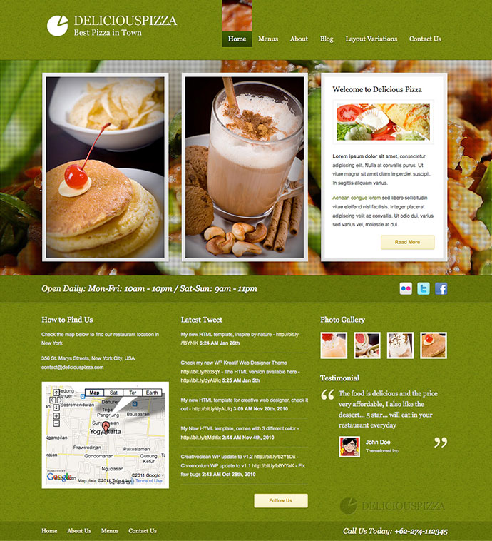 Best html website templates for cafe bar restaurant