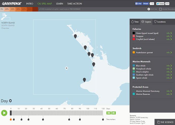 Oil Spill Map New Zealand