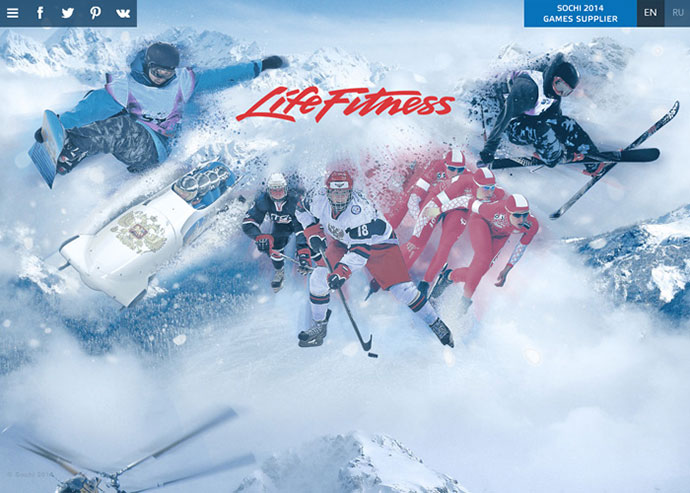 Life Fitness at the Sochi 2014 Winter Olympics