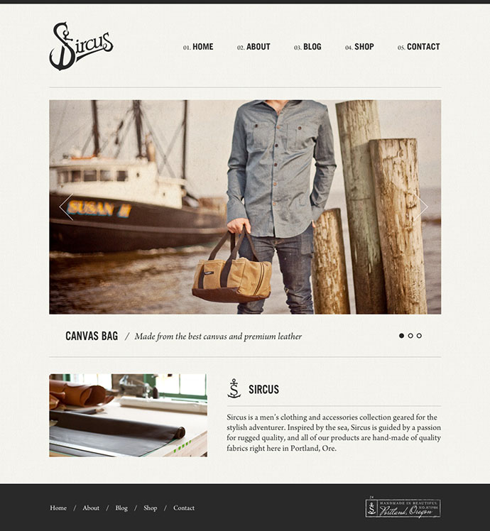 Sircus Site Design