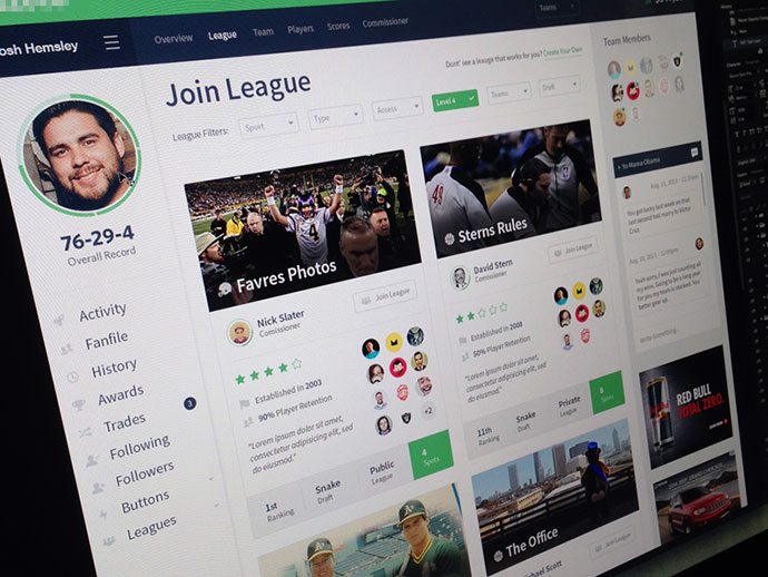 Join League Page