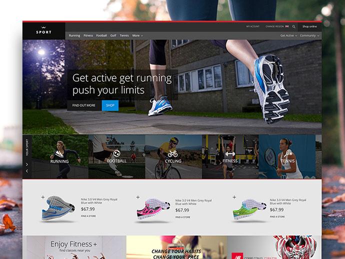 Sports Website Freebie