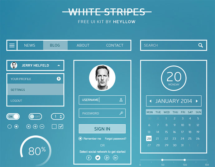 white-strip-ui-kit