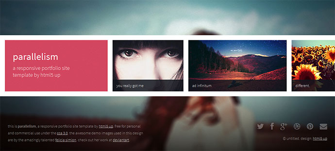 Creative Beautiful Grid HTML Website Templates Web Graphic - Free html photography website templates