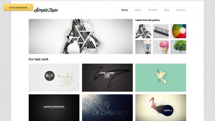 simple html templates free download - 15 creative beautiful grid html website templates web
