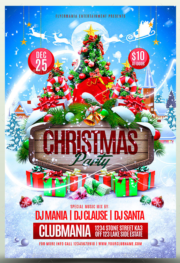 Christmas Party Flyer.25 Christmas New Year Party Psd Flyer Templates 2019