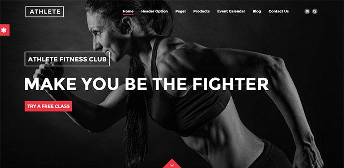 Athlete - Fitness, Gym and Sport WordPress theme