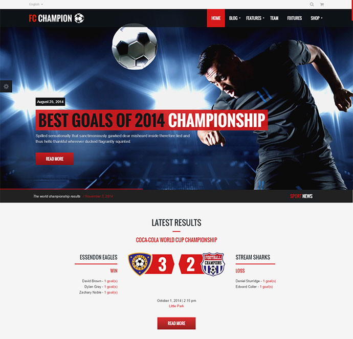 15+ Best Sport Wordpress Themes 2018 | Web & Graphic Design | Bashooka