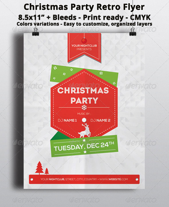 25 christmas  u0026 new year party psd flyer templates
