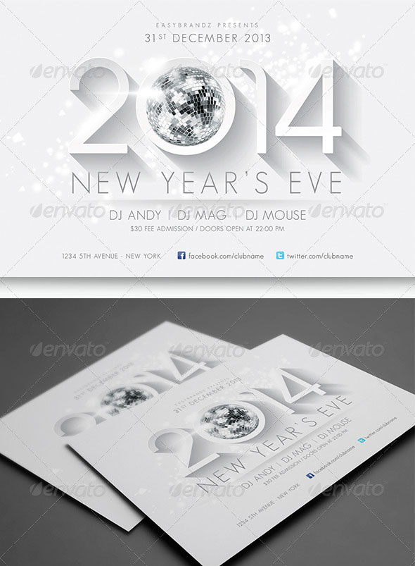 25 Christmas & New Year Party Psd Flyer Templates | Web & Graphic