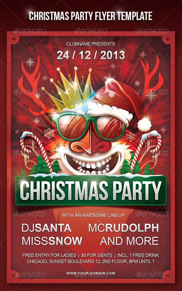 24 christmas party flyer template