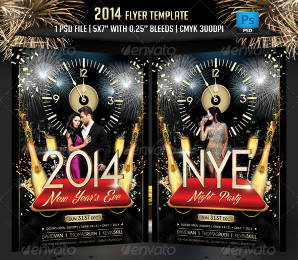 Christmas  New Year Party Psd Flyer Templates  Web  Graphic