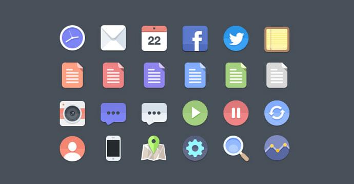 24 Free Flat Icons