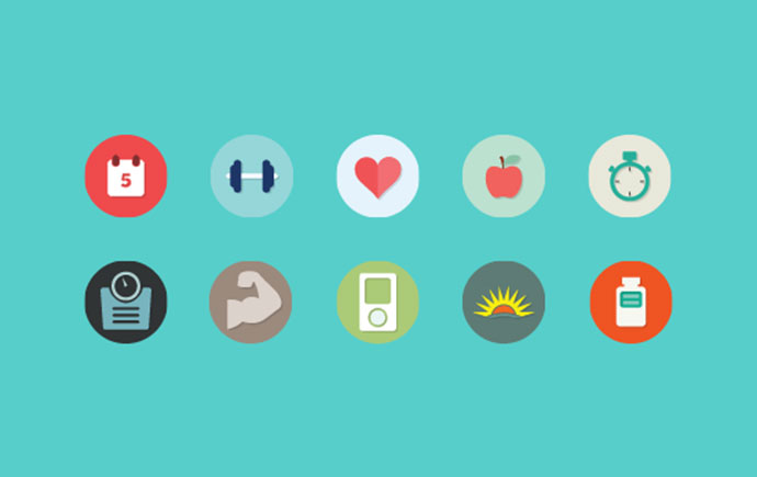 The Fitflat Icon Set