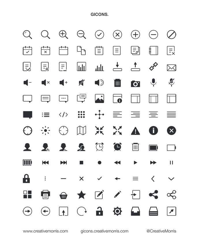 17 high quality free psd icon sets for designer