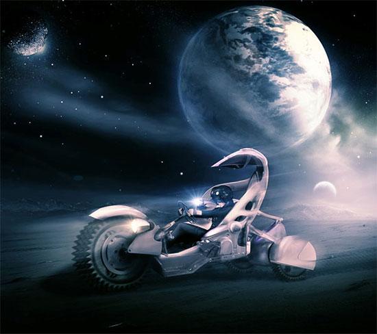 Create a Sci-Fi Racing Driver Scene