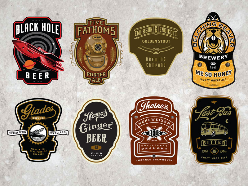30 modern retro vintage style logo designs web graphic design rh bashooka com