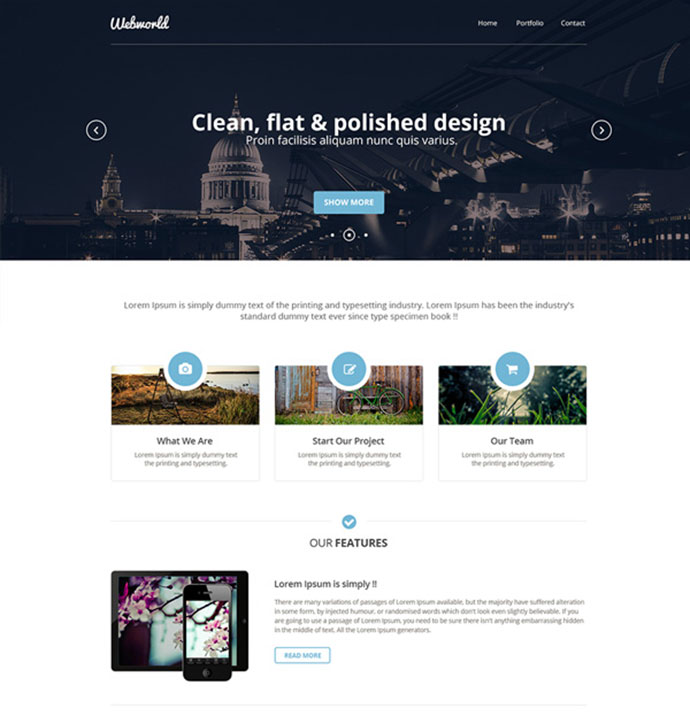 12 Free Modern PSD Website Templates | Web & Graphic Design | Bashooka
