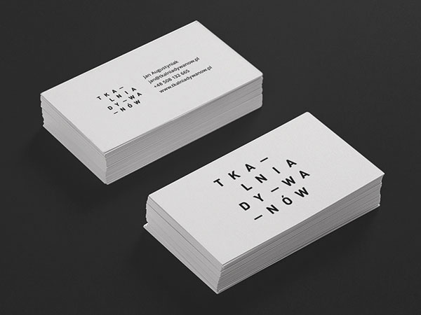 business cards tkalnia by robert brodziak - Business Card Design Ideas