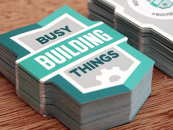 Busy Building Things Cards By Andrew Power