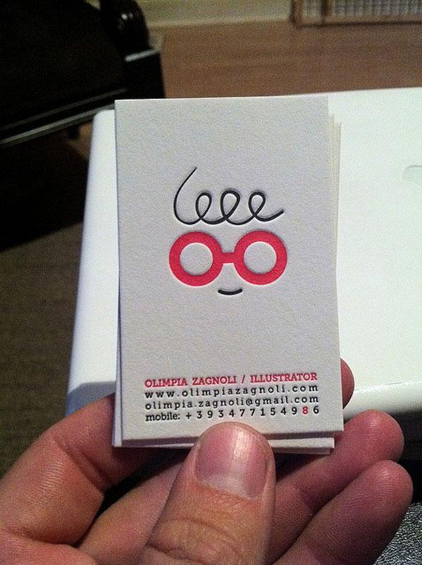 Olimpia Zagnoli; logo and business card