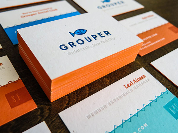 Business Card Design Ideas cool business card design ideas Grouper Business Card