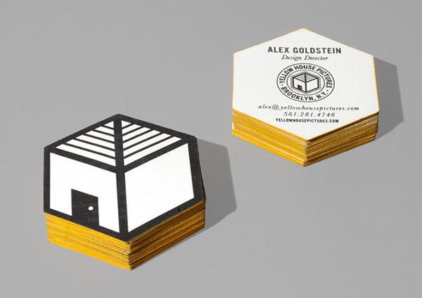 biz card / yellow house
