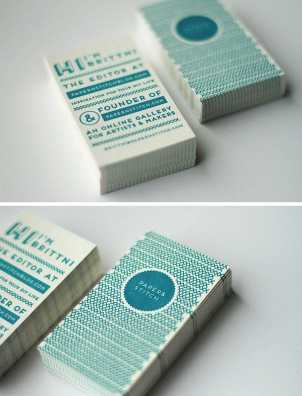Letterpress business cards for Paper