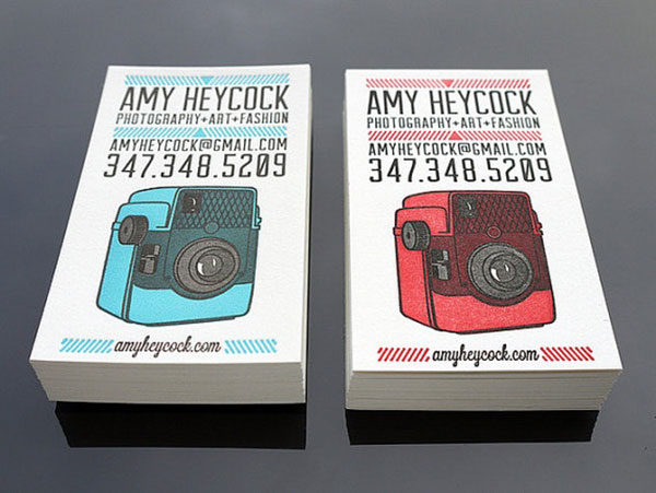 Custom letterpress business cards by Print