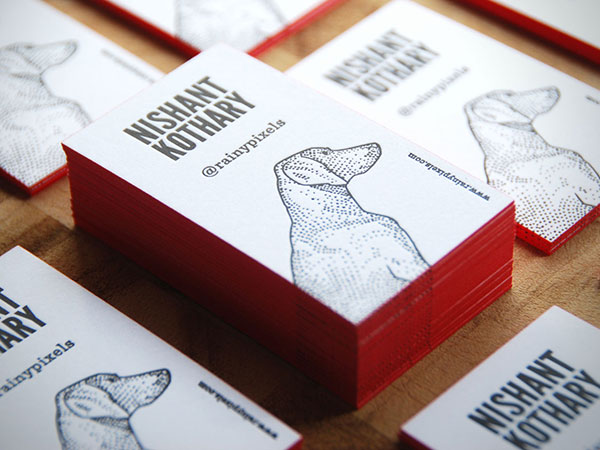 Letterpress Business Card By Nishant Kothary