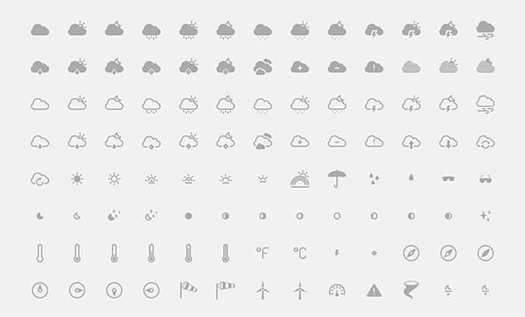 10 Perfectly Shaped Weather Icon Sets – Bashooka