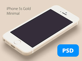 iPhone 5s Minimal Gold.