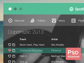 (PSD) Spotify Flat By Nabil Ghulam (Flat